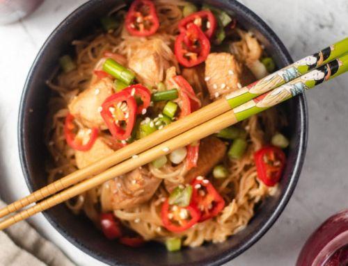 Honey Sriracha Chicken Noodles